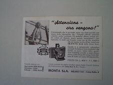 advertising Pubblicità 1937 ZEISS IKON IKONTA 6X6