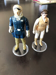 2 Star Wars 1980 Figures (ESB) (1) Princess Leia Hoth (2) Han Solo Hoth Outfit