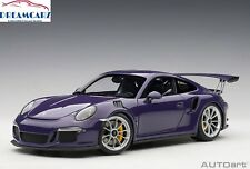AUTOart 78169 1:18 Porsche 911 GT3 RS - Ultraviolet with Silver wheels