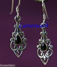 Mittelalter Ohrringe ~SASKIA   ~ Onyx - 925 Silber LARP
