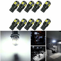 10x Canbus T10 194 168 W5W 5730 8 LED SMD White Car Side Wedge Light Lamp 10PCS