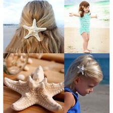 Women Girl Starfish Hairclip Mermaid Barrette Star Hairclip Hairpin Beach Clip