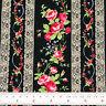Cotton Fabric FQ Rose Floral Lace Stripe Print Vintage Retro Dress Quilting VK95