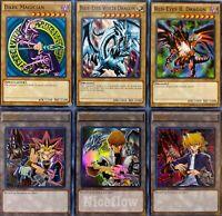 Yugioh Yugi Kaiba Joey 3 Card Token Set Blue Eyes White Dragon Dark Magician Red