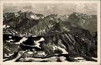 Bayern Postkarte Nebelhorn Station Edmund Probst Haus 1935 mit 6 Pf. Saar Marke
