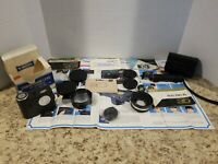 VINTAGE LOT OF YASHICA CAMERA LENSES AND BOOKS ETC