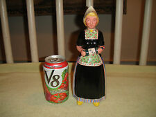 Vintage Holland Decanter Woman Holding Bols Bottle-Signed-Crown Marking-Country