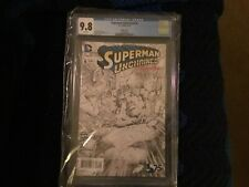 Superman Unchained 6 Sketch Cover CGC 9.8 Black & White Variant Cover 1 For 300