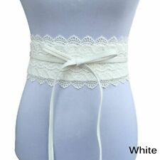 Dress Wide Corset Women Waist Belt Bow Elastic Cinch Wide Lace Waistband