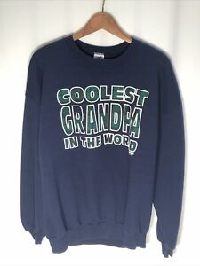 Vintage Men's (Size XL) Coolest Grandpa In The World Pullover Sweatshirt