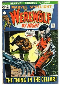 Marvel Spotlight #3 Featuring Werewolf  By Night, Fine - Very Fine Condition