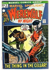 Marvel Spotlight #3 Featuring Werewolf  By Night, Fine - Very Fine Condition
