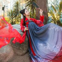 Lolita Chinese Ancient Ruqun Embroidery Hanfu Fancy Long Dress Cosplay Costume
