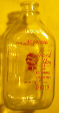 Iowana Superior Flavor Half Gallon Milk Bottle - Nice Printed Lettering See!