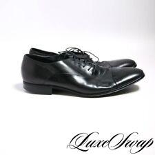 Salvatore Ferragamo Made in Italy Soft Black Nappa Leather Rain-Lux Shoes 10 D