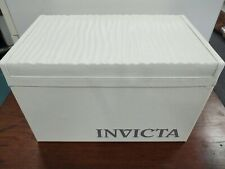 Rare Invicta White 20 Slot Wrist Watch Collector's Box Case