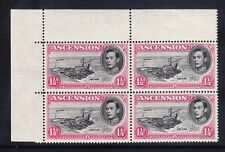 ASCENSION GVI 1938 SG40e 11/2d black & carmine corner block of 4 u/m. Cat £48