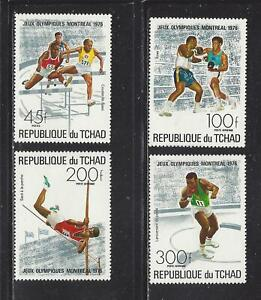 CHAD - 313; C187 - C189 - MH - 1976 - MONTREAL OLYMPIC GAMES
