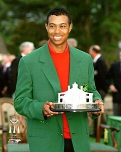 "Tiger Woods 1997 Masters Champion Green Jacket Photo (Size: 8"" x 10"")"
