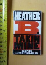 Heather B Takin Mine PROMO SEALED Cassette NEW NOS HIP HOP SUPER RARE FREE SHIP