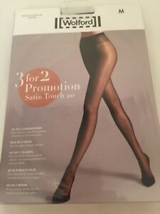 Wolford Satin Touch 20 Tights  3 for 2 promotion pack Medium Black perfect co