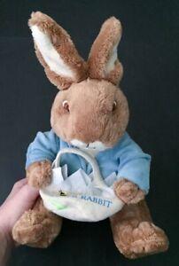 Frederick Warne Peter Rabbit Holding Basket Plush Stuffed Animal Toy Bunny