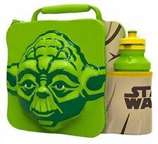 YODA Kids Children 3D Lunch Box Bag With Sport Water Bottle