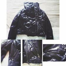 Punk gothic women cropped jacket metal zippers