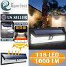 118LED Solar Lights PIR Motion Sensor Wall Lamps Outdoor Waterproof Light Garden