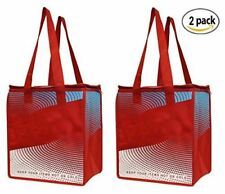 2 Piece Earthwise Insulated Grocery Bag - KEEPS FOOD HOT OR COLD Large Hot Cold