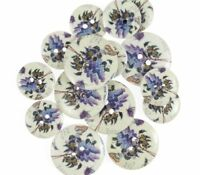 Great Tit Bird Wooden Craft Buttons Pack of 15 Two Sizes 056