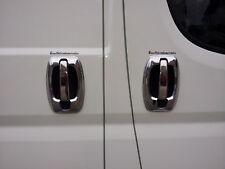Fit Fiat Ducato Peugeot Boxer Citroen Chrome Door Handle+Rim Cover 4door S.Steel