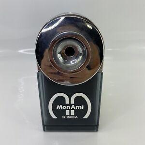 "Vintage MonAmi S-1500A Plastic Mechanical Manual Pencil Sharpener 3x7x6"" Korean"