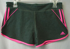ADIDAS Ladies' Stretch Shorts-Dark Grey Heather/Intense Pink-EXTRA LARGE-NWT-$30
