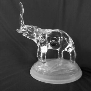 Leaded Glass Elephant Figurine Vintage Cristal D' Arques Made In France