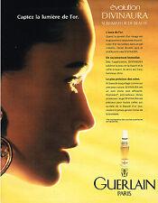 PUBLICITE ADVERTISING 074  1990  GUERLAIN   cosmétiques OR 2