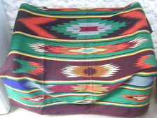 Vintage de Lana Tejido Sofá Tirar Kilim Alfombra-Excelente-étnico Rústico-doble cara