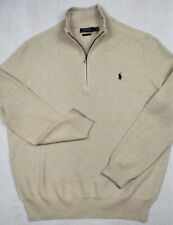Polo Ralph Lauren Sweater Pima Cotton Natural Half-Zip XLT XL Tall NWT $125