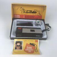 Vtg Kodak Pocket Instamatic 20 Camera Magicube Extender Original Box User Manual