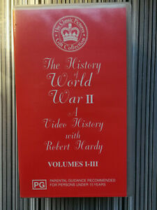 The History Of World War II VHS With Robert Hardy Volumes I-III VGC x 3 tapes