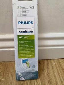 Philips Sonicare Optimal White Toothbrush Head W2 HX6062 x2