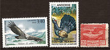 ANDORRE  3timbres neufs N° 421-211-e urgente-Aigle,coq de bruyere,express 1M 328