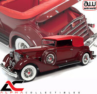 AUTOWORLD AW271 1:18 1934 PACKARD V12 VICTORIA SOFT TOP (RED)