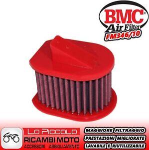 PER KAWASAKI Z 750 S 2005 2006 FM346/10 FILTRO ARIA SPORTIVO BMC LAVABILE RACING