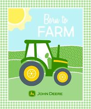 John Deere Born to Farm Panel 100% cotton fabric panel