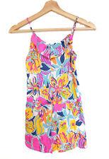 New Lilly Pulitzer Girls shorts romper sleeveless Summer Printed L 8-10