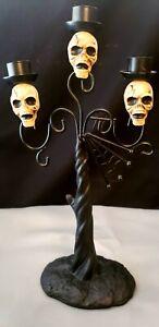 Spiderweb Candelabra Black Spider Skull Halloween Decoration