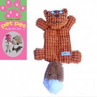 Bat Cat Pet Toy Dog Cat Puppy Soft Plush Tug Fetch Squeaky Sound 36cm Animal