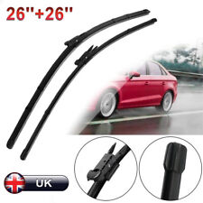 """FOR SEAT LEON MK2 2005-2012 DIRECT FIT FRONT AERO WIPER BLADES PAIR 26"""" + 26"""""""