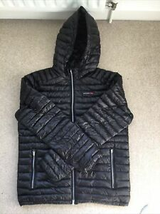 Abercrombie And Fitch Mens Black Lightweight Down Jacket L Mint Condition